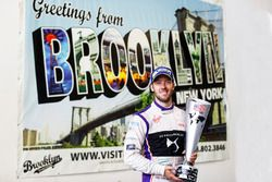 Sam Bird, DS Virgin Racing, poses for a picture with his trophy