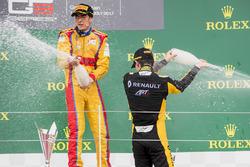 Podium: race winner Giuliano Alesi, Trident, second place Jack Aitken, ART Grand Prix