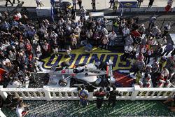 Podium: winner Will Power, Team Penske Chevrolet, second place Josef Newgarden, Team Penske Chevrolet, third place Alexander Rossi, Curb Herta - Andretti Autosport Honda