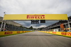 A view of the start/finish straight from the grid