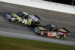 Justin Haley, GMS Racing Chevrolet, Myatt Snider, Kyle Busch Motorsports Toyota