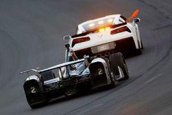 Josef Newgarden, Team Penske Chevrolet follows the pace car