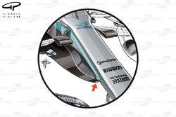 Mercedes W08 new nose, Malaysia GP