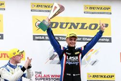 Podium: race winner Aiden Moffat, Laser Tools Racing Mercedes Benz A-Class