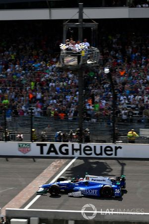 Damalı bayrak: Yarış galibi Takuma Sato, Andretti Autosport Honda