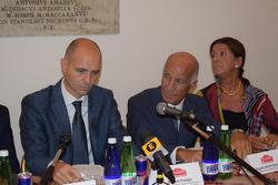 Daniele Frongia, assessore sport Roma Capitale, il Presidente dell'Aci Angelo Sticchi Damiani e il P