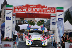 I vincitori Marco Signor, Patrick Bernardi, Ford Fiesta WRC, Sama Racing