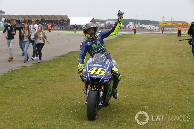 Il vincitore della gara Valentino Rossi, Yamaha Factory Racing