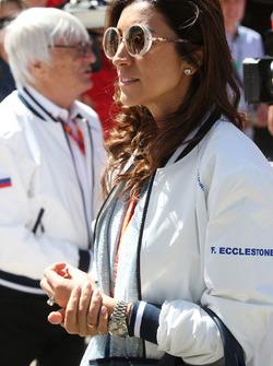 Flosi Fabian esposa de Bernie Ecclestone, presidente honorario de la Fórmula 1