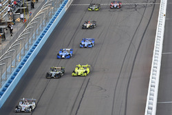 Will Power, Team Penske, Chevrolet, J.R. Hildebrand; Ed Carpenter Racing, Chevrolet; Simon Pagenaud,