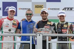 Podium: Race winner Jehan Daruvala, Carlin, Dallara F317 - Volkswagen , second place Maximilian Günther, Prema Powerteam Dallara F317 - Mercedes-Benz, third place Lando Norris, Carlin Dallara F317 - Volkswagen