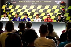 Karel Abraham, Aspar Racing Team, Valentino Rossi, Yamaha Factory Racing, Maverick Viñales, Yamaha Factory Racing, Marc Marquez, Repsol Honda Team, Andrea Dovizioso, Ducati Team, Jonas Folger, Monster Yamaha Tech 3