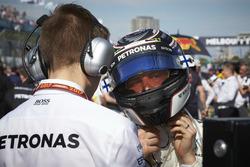 Valtteri Bottas, Mercedes AMG, on the grid