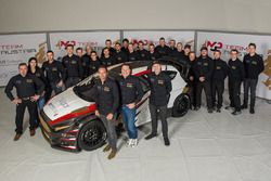 Kevin Ericsson, Timo Scheider and Max Pucher, Ford Fiesta, MJP Racing Team Austria with the team