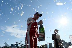 Robin Frijns, Amlin Andretti Formula E Team, celebrates on the podium