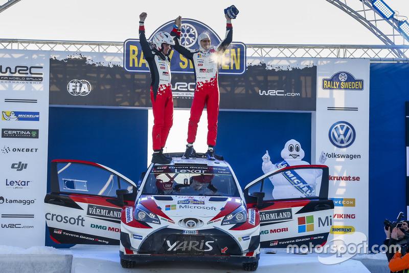 Winnaars Jari-Matti Latvala, Miikka Anttila, Toyota Yaris WRC, Toyota Racing