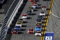Brad Keselowski, Team Penske Ford, Ryan Reed, Roush Fenway Racing Ford and Ty Dillon, Richard Childr