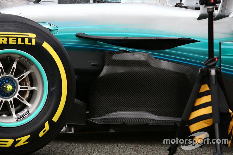 Mercedes AMG F1 W08, bargeboard