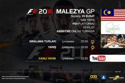 F1 2016 Malezya GP Poster