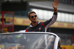 Romain Grosjean, Haas F1 Team, on the drivers parade