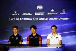 Press Conference: Nyck De Vries, Racing Engineering. Nobuharu Matsushita, ART Grand Prix. and Louis Deletraz, Rapax