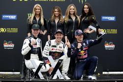Podio: il vincitore Mattias Ekström, EKS, Audi S1 EKS RX Quattro, il secondo classificato Johan Kristoffersson, PSRX Volkswagen Sweden, VW Polo GTi, il terzo classificato Timmy Hansen, Team Peugeot-Hansen, Peugeot 208 WRX