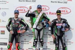 Podium Supersport: Winner Martin Jessopp, Triumph, Ian Hutchinson, Yamaha, James Hillier, Kawasaki