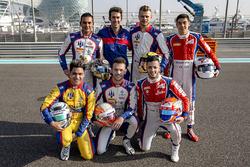 Foto del equipo Trident con sus pilotos de GP2 y GP3 Philo Paz Armand, Trident, Luca Ghiotto, Triden