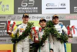 Podium GT-Cup: Race winner Adderly Fong, Bentley Team Absolute, Bentley Continental GT3; second plac