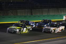 John Hunter Nemechek, SWM-NEMCO Motorsports Chevrolet leads Myatt Snider, Kyle Busch Motorsports Toyota