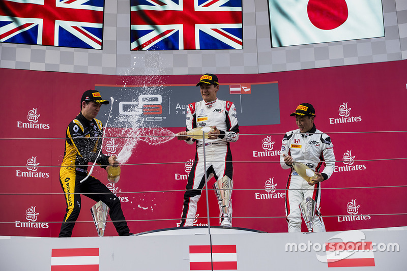 Podium: 1. George Russell, ART Grand Prix; 2. Jack Aitken, ART Grand Prix; 3. Nirei Fukuzumi, ART Grand Prix
