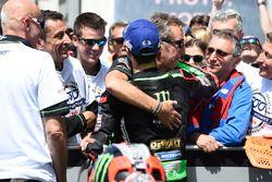 Deuxième place Johann Zarco, Monster Yamaha Tech 3, Hervé Poncharal, Monster Yamaha Tech 3