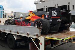 Car of Pierre Gasly, Team Mugen after his crash
