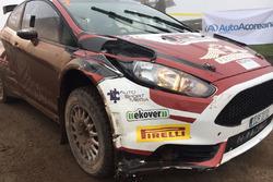 La Fiesta R5 di Alexey Lukyanuk danneggiata