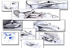 Designstudien für das IndyCar-Aerokit 2018