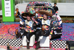 I vincitori Jari-Matti Latvala, Miikka Anttila, Volkswagen Polo WRC, Volkswagen Motorsport