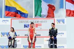 Podium: winner Leonardo Pulcini, Campos Racing, second place Tatiana Calderon, Teo Martin Motorsport, third place Ferdinand Habsburg, Drivex School