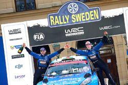 Elfyn Evans, Craig Parry, M-Sport Ford Fiesta WRC