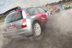 Une Renault Clio RX sur le circuit de Hell