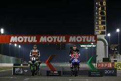 Superbike-Weltmeister 2017: Jonathan Rea, Kawasaki Racing; Supersport-Weltmeister 2017: Lucas Mahias