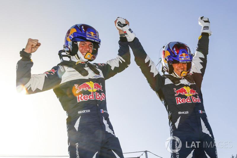Podio: Sébastien Ogier, Julien Ingrassia, Ford Fiesta WRC, M-Sport