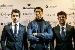 Charles Leclerc, Sauber, Sean Gelael, Scuderia Toro Rosso and Norman Nato, at Amber Lounge Fasion Sh
