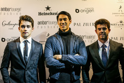 Charles Leclerc, Sauber, Sean Gelael, Scuderia Toro Rosso and Norman Nato, at Amber Lounge Fasion Sh