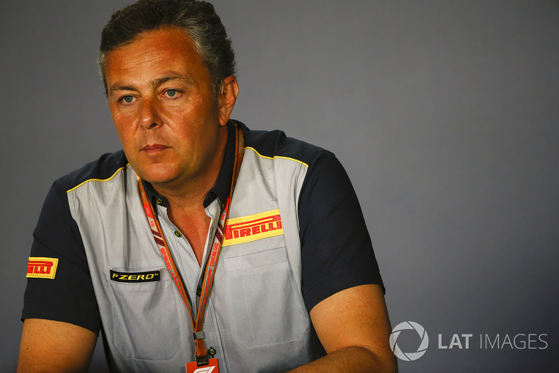 Mario Isola, Gerente de Carreras, Pirelli Motorsport, en una conferencia de prensa