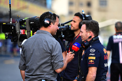 Ted Kravitz, Sky TV and Christian Horner, Red Bull Racing Team Principal