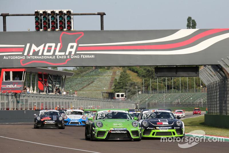 Partenza: Diego Bertonelli, Dinamic Motorsport ed Enrico Fulgenzi, Ghinzani Arco Motorsport