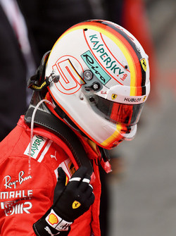Sebastian Vettel, Ferrari, parc ferme