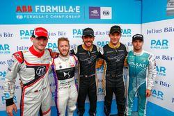 Maro Engel, Venturi Formula E Team, Sam Bird, DS Virgin Racing, Jean-Eric Vergne, Techeetah, Andre Lotterer, Techeetah, Antonio Felix da Costa, Andretti Formula E Team