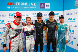 Maro Engel, Venturi Formula E Team, Sam Bird, DS Virgin Racing, Jean-Eric Vergne, Techeetah, Andre Lotterer, Techeetah, Antonio Felix da Costa, Andretti Formula E Team, after qualifying
