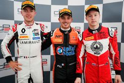 Race winner Dorian Boccolacci, MP Motorsport, second place Anthoine Hubert, ART Grand Prix, third place Nikita Mazepin, ART Grand Prix